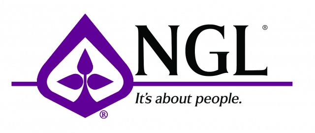NGL with Tag Line plum logo and line