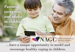 Parents, caregivers, and adults have the unque opportunity to model and encourage healthy coping in children.